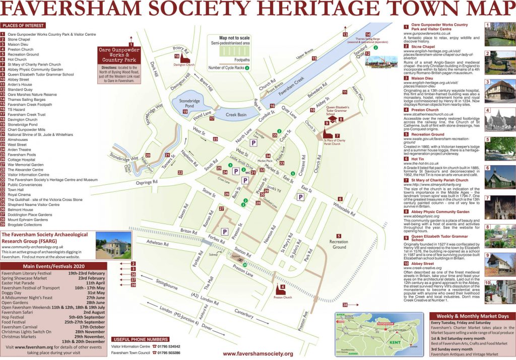 Faversham Society Heritage Town Map